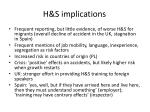 h s implications