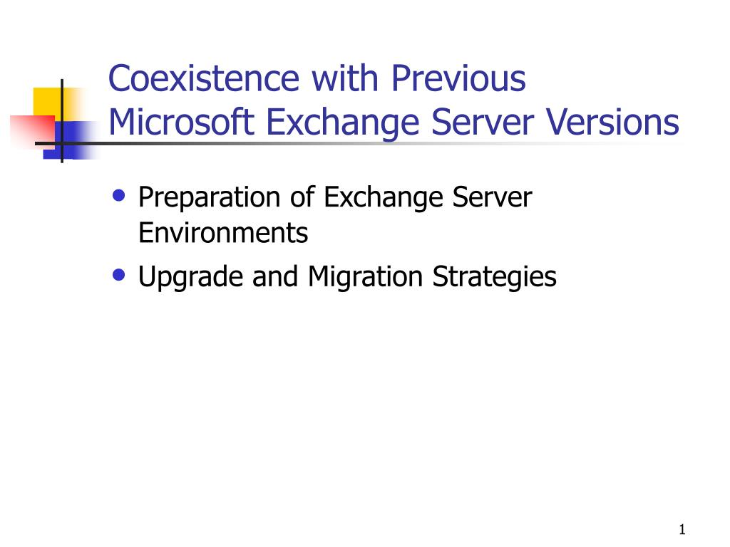 coexistence with previous microsoft exchange server versions l.