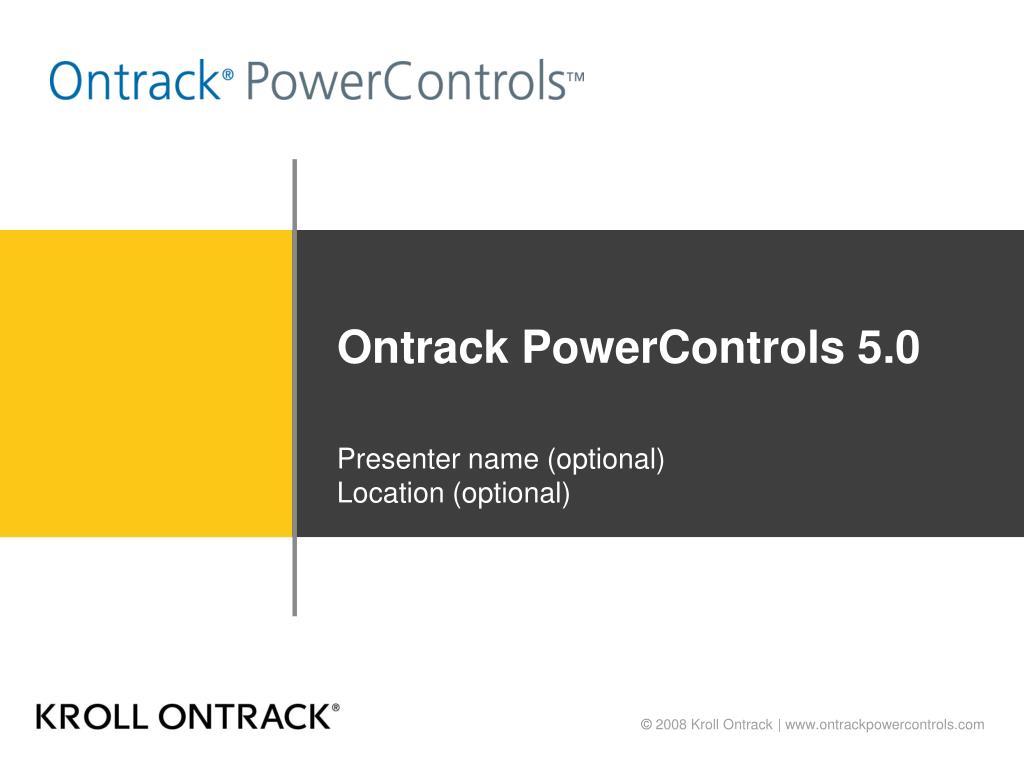 ontrack powercontrols 5 0