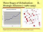 three stages of globalization ii strategic alliances 1980 1995
