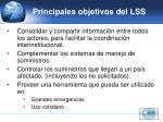 principales objetivos del lss