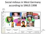 social milieus in west germany according to sinus 19981