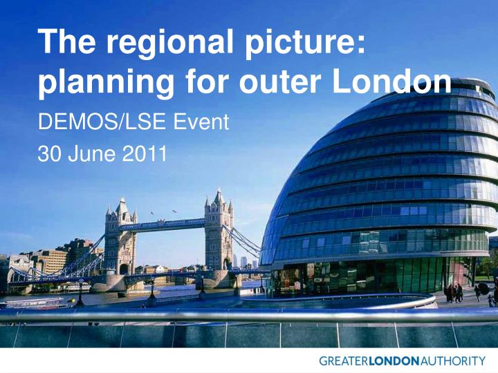 the regional picture planning for outer london n.