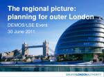 the regional picture planning for outer london