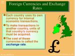 foreign currencies and exchange rates