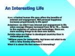 an interesting life