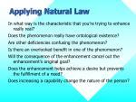 applying natural law