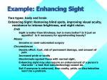 example enhancing sight