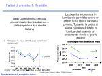 fattori di crescita 1 il reddito