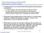 focus group imprese farmaceutiche aspetti generali su politiche regionali