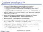 focus group imprese farmaceutiche aspetti specifici del sistema lombardo