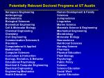 potentially relevant doctoral programs at ut austin