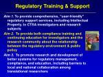 regulatory training support