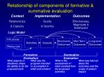 relationship of components of formative summative evaluation