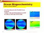 ocean biogeochemistry s elliot s chu m maltrud