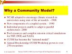 why a community model