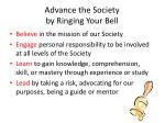 advance the society by ringing your bell