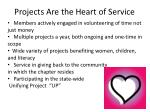 projects are the heart of service