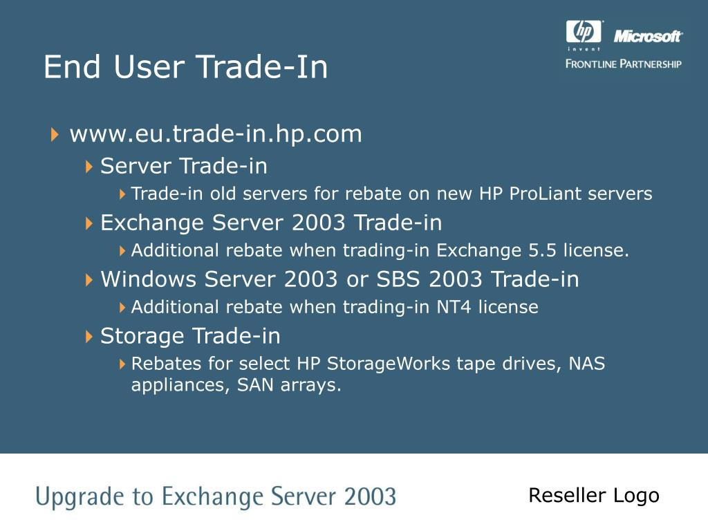 End User Trade-In