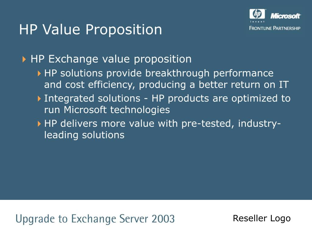 HP Value Proposition