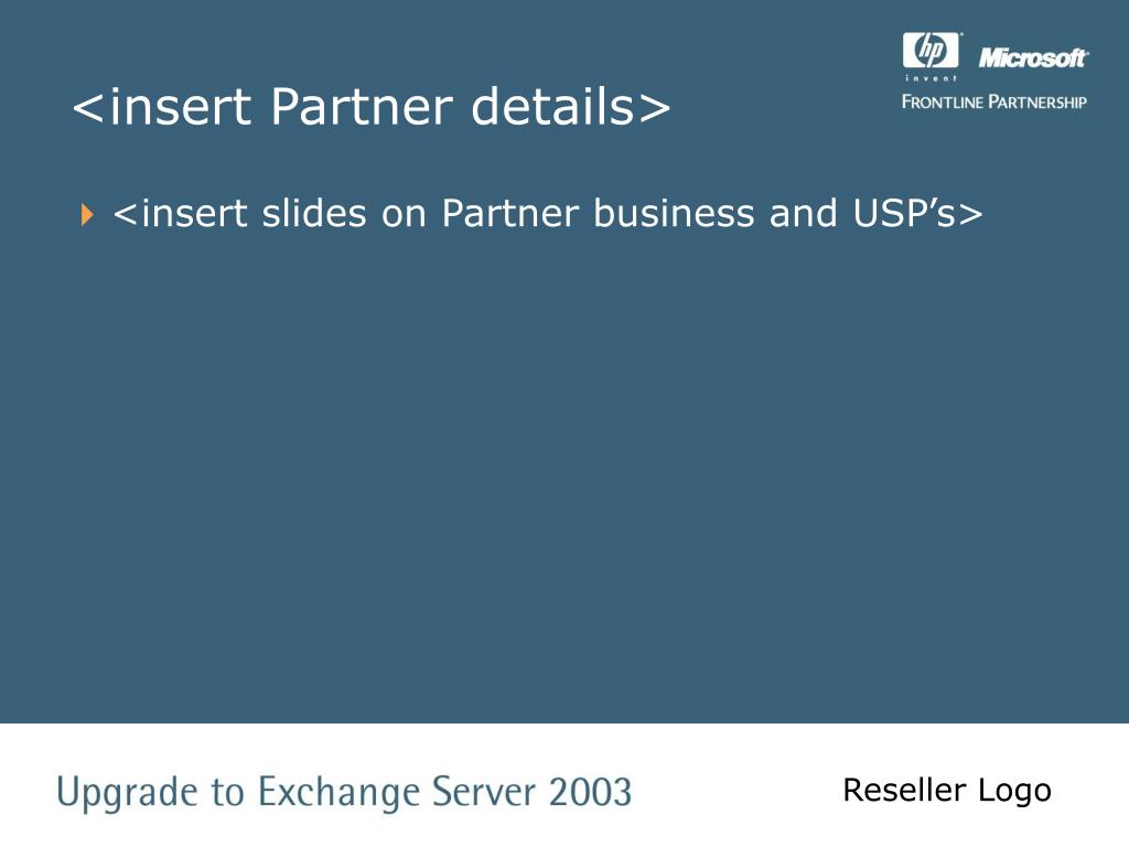 <insert Partner details>