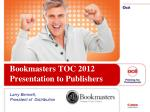 bookmasters toc 2012 presentation to publishers