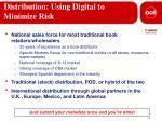 distribution using digital to minimize risk
