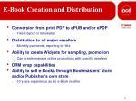 e book creation and distribution