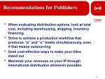 recommendations for publishers