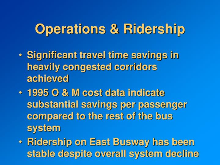 Operations & Ridership