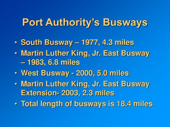 Port Authority's Busways