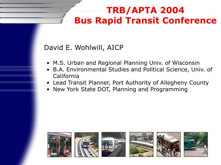 David E. Wohlwill, AICP