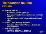 tietokannan hallinta online