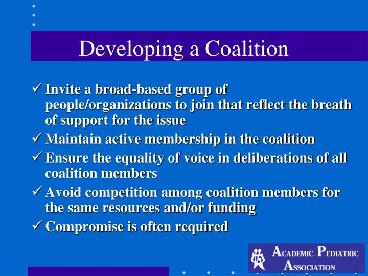 Developing a Coalition