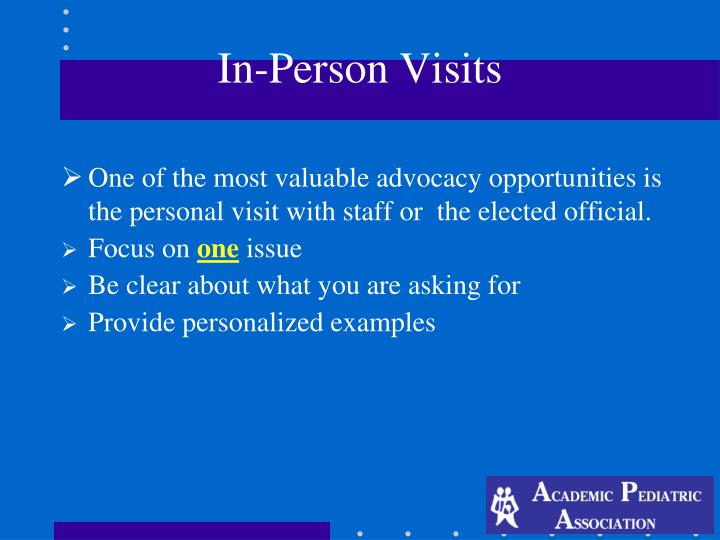 In-Person Visits