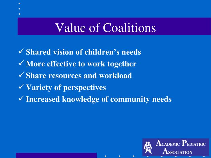 Value of Coalitions