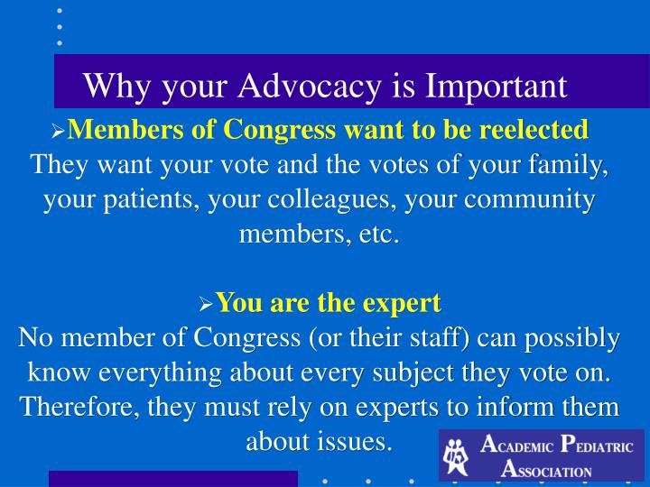 Why your Advocacy is Important
