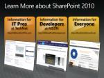 learn more about sharepoint 2010