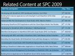 related content at spc 2009