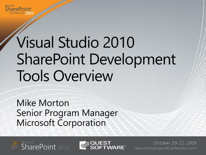 visual studio 2010 sharepoint development tools overview n.