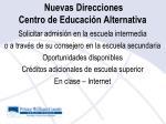 nuevas direcciones centro de educaci n alternativa