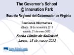the governor s school @ innovation park