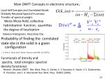 main dmft concepts in electronic structure