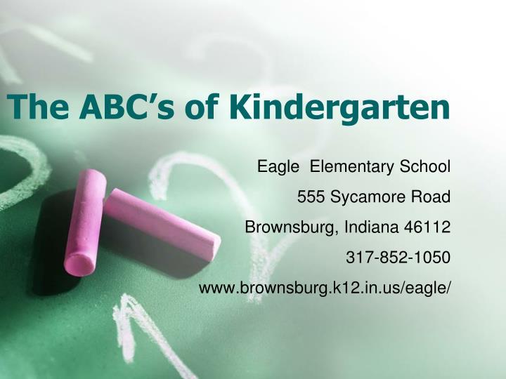 the abc s of kindergarten n.