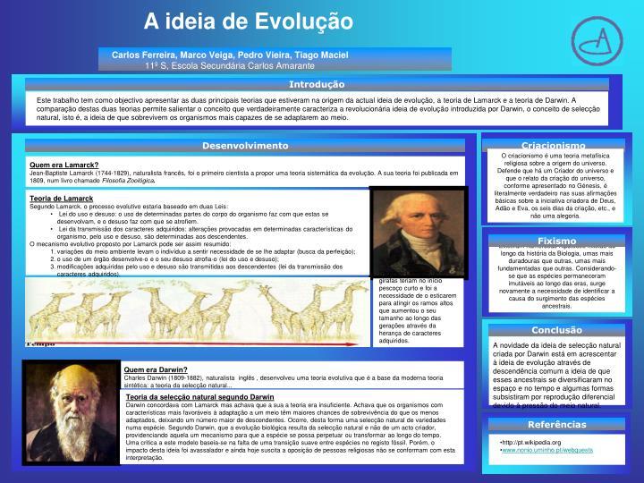 A ideia de Evolução
