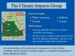 the climate impacts group
