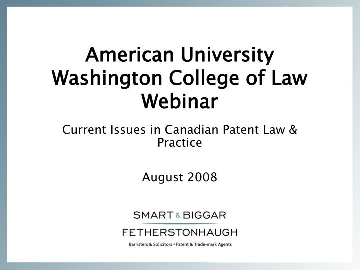 american university washington college of law webinar n.