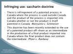 infringing use saccharin doctrine