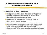 6 pre requisites to creation of a conflict free period4