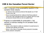 csr the canadian forest sector